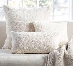 faux sheepskin pillow cover pottery barn