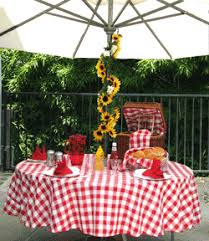 Round Patio Tablecloth With Umbrella Hole by Buy Washable Umbrella Tablecloth For Umbrella Table Nicer Than