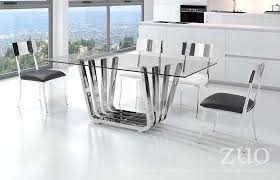 Modern Dining Room Sets Canada by Zuo Modern Fan Dining Table Chrome 100325 Modern Furniture Canada