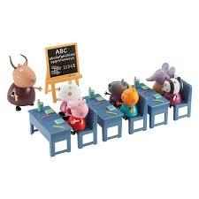 peppa pig salle de classe 7 personnages giochi king jouet héros