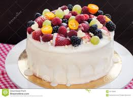 Cakes Decorated With Fruit by White Chocolate Cake Decorated With Fresh Berries And Fruits Stock