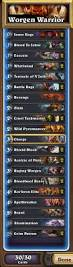 Patron Warrior Deck Hearthpwn by Patron Worgen Did I Build This Deck Wrong Warrior Class