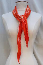 100 Rosee Herms Orange Pleated Silk Twill Scarf La Rose Les Merveilles