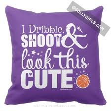 Basketball Throw Pillows Golly Girls
