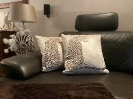colmore kissen leopard katze afrika deko kissen grau braun