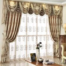Valances Curtains For Living Room by European Golden Royal Luxury Curtains For Bedroom Window Valance
