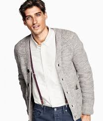how to wear a white long sleeve shirt with a grey cardigan men u0027s