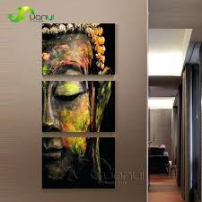 Budha Wall Art 3 Piece Canvas Painting Oil Decorations