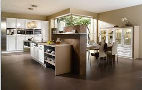 kitchen island design with attached table bar stools high end