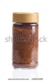 Instant Coffee Jar Isolated On White Background Bottle Glass Packaging