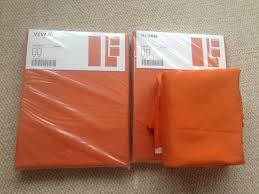 Ikea Vivan Curtains White by Three Pairs Of Orange Vivan Curtains Sold Out In Ikea In