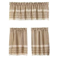 Amazon Lace Kitchen Curtains by Burlap And Lace Curtains Amazon Com