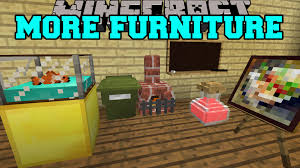 Minecraft MORE FURNITURE AQUARIUM GARBAGE CAN OFFICE CHAIR