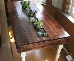 Pallet Succulent Side Table With Pictures