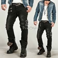 New Mens Fashion Best Pants Bottom Vintage Double Belt Grunge Black Slim Jeans In Casual From Clothing Accessories On Aliexpress