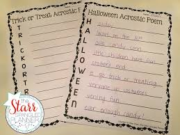 Halloween Acrostic Poem Words by 10 Favorite Halloween Centers The Starr Spangled Planner
