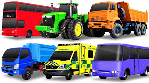 Learning Street Vehicles For Kids. Cars And Trucks: Dump Truck ...