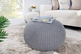 nobrand interior design pouf 50 cm grau bezug aus strick