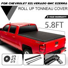 100 Chevy Truck Accessories 2014 Roll Up Tonneau Cover For 2018 Silverado GMC 58