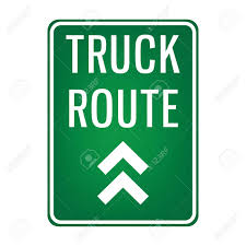 100 Truck Route Sign Board Royalty Free Cliparts Vectors And Stock