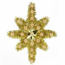 Oversized Tinsel Star Christmas Tree Topper Clear L