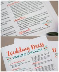 This Free Wedding Dress Planning Timeline Printable Is A Cute Checklist AND Worksheet To Add