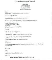 Custodian Resume Template Janitor Examples Oi1b Sample