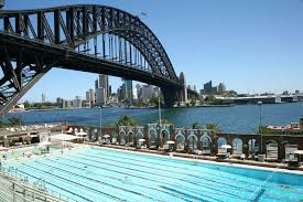 North Sydney Olympic Pool And Harbour Bridge View Larger Picture