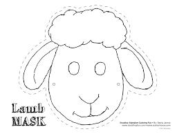 Sheep Mask Template