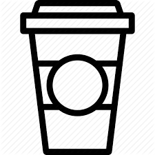 Banner Royalty Free Library Food By Nikita Tcherednikov Icon Image Black And White To Go Coffee Cup Clipart