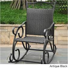 Black Patio Rocking Chair, Resin Wicker & Steel Frame, Outdoor Porch Rocker  Seat Durogreen Classic Rocker Black 3piece Plastic Outdoor Chat Set Presidential Recycled Wood Patio Rocking Chair By Polywood Shop Intertional Concepts Slat Seat Palm Harbor Wicker Grey At Home Trex Fniture Yacht Club Charcoal Americana Style Windsor Jefferson Woven With Tigerwood Weave Colby Cophagen Cushioned Rattan Armchair Glider Lounge Cushion Selections Chairs At Lowescom
