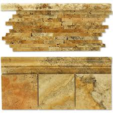 Scabos Travertine Natural Stone Wall Tile by Scabos Travertine Bullnose Sefa Stone