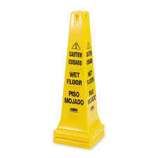 Banana Wet Floor Sign by Rubbermaid Commercial Safety Cone Caution 36 Inch Multilingual