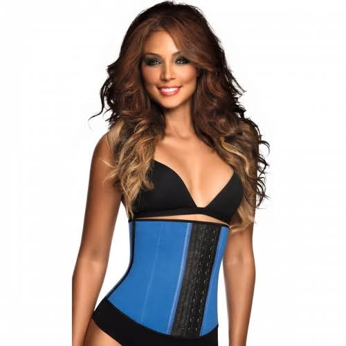 Ann Chery Women's Latex Sport Waist Cincher - Blue, Small