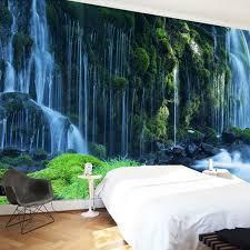 aliexpress com buy waterfall landscape custom 3d photo wallpaper