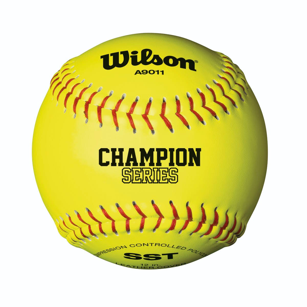 "Wilson Fastpitch Softball - Optic Yellow, 12"", 12pk"