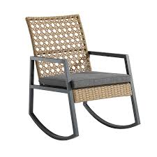 Walker Edison Furniture LLC Modern Patio Rattan Rocking Chair - Light  Brown/Grey Hardwood Rocking Chair Ohio State Jumbo Slat Black Ncaa University Game Room Combo 3 Piece Pub Table Set The Best Made In Amish Chairs For Rawlings Buckeyes 3piece Tailgate Kit Products Smarter Faster Revolution Axios Shower Curtain 1 Each Michigan Spartans Trademark Global Logo 30 Padded Bar Stool