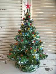 Vintage 1970s Lighted Atlantic Mold 22 Ceramic Christmas Tree