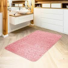 moderner badezimmer teppich einfarbig hochflor badteppich