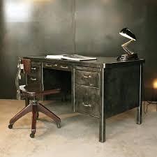 bureau industriel metal intérieur de la maison bureau industriel metal console fabric
