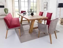 essgruppe lyon a balkeneiche bank stühle sessel gerit 1 kombi rosso expendio