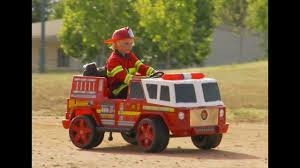 100 Fire Trucks Kids Engine Ride On Unboxing And Review YouTube
