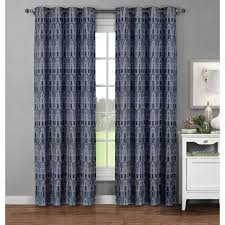 Window Elements Cotton 96 inch Extra wide Juneau printed Grommet