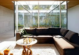 offenes wohnzimmer mit glas putz und stein bild 25