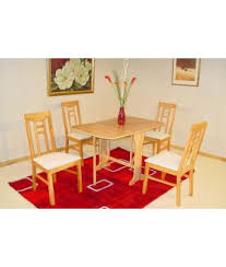 Liverpool Gateleg Dining Table With 4 Chairs In Maple Or Mahogany