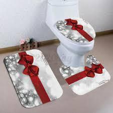 3x weihnachten badteppich badgarnitur vorleger matte