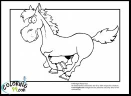Surprising Cute Cartoon Horse Coloring Pages With Horses And Free Printable