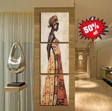 African Women Art 3 Piece FRAMED Canvas Set