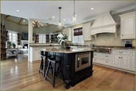 Of White Contemporary Affordable Kitchen Cabinets Combined With Black Painted Mahogany Wood Island Using Image Hypnotic Country French