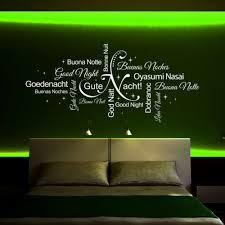 träumen deko modern wandtattoo gute nacht wortwolkesprachen